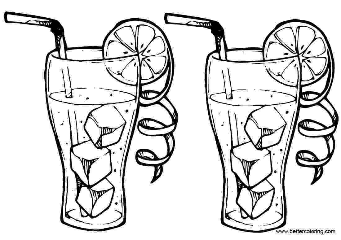 lemonade coloring page two glasses of lemonade coloring pages free printable page coloring lemonade