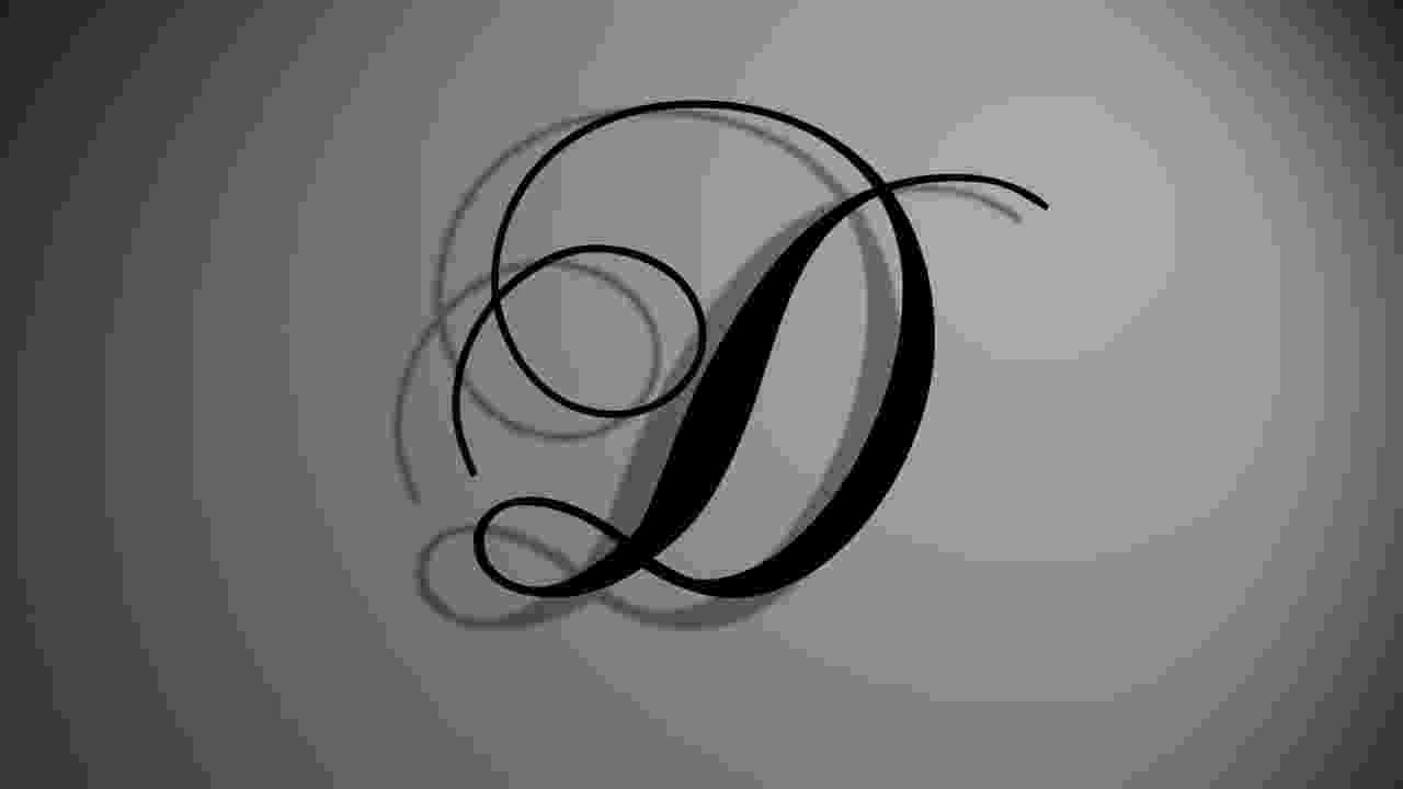 letter d after effects template letter quotdquot of the chopin letter d