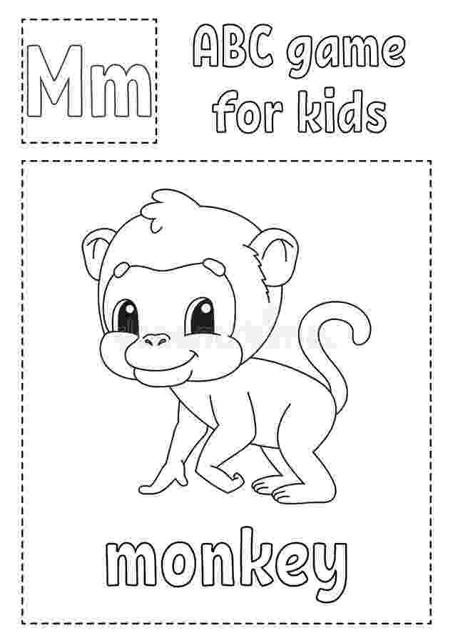 letter m monkey m is for monkey coloring printable animal alphabet letter monkey m