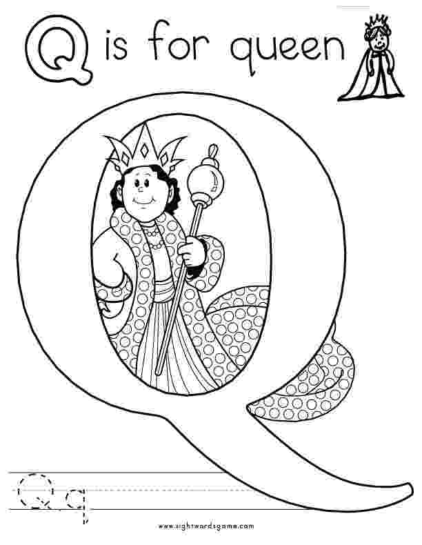 letter q coloring sheet alphabet coloring pages sight words reading writing letter sheet coloring q
