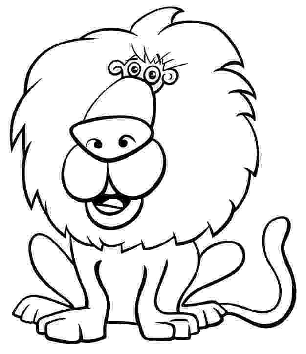 lion cartoon black and white cartoon illustration of funny lion wild lion cartoon
