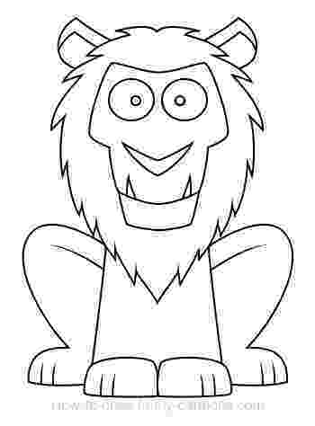 lion cartoon cartoon clipart of a black and white scared lion vector cartoon lion