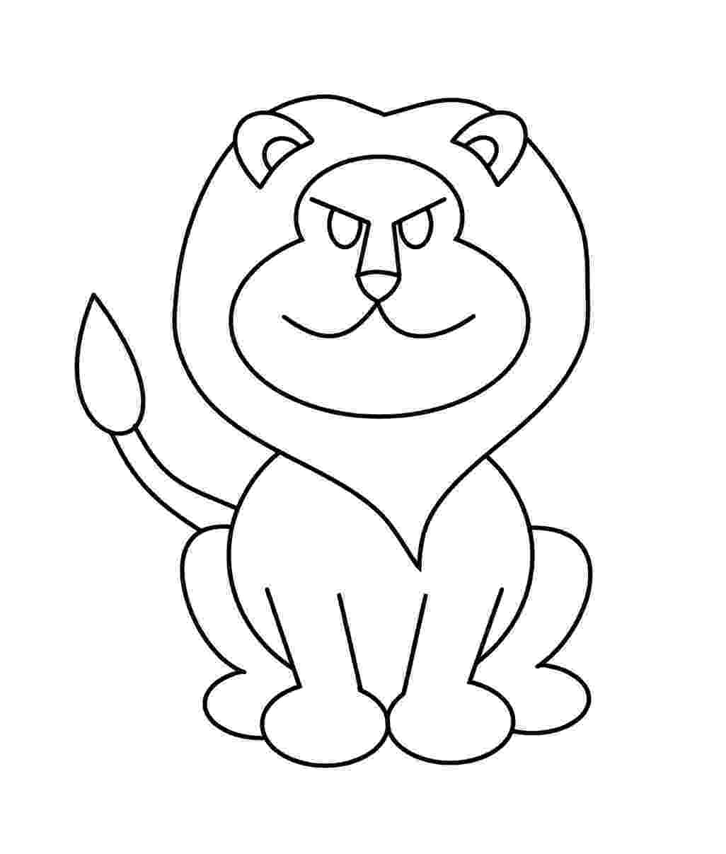lion cartoon easy drawing of a lion at getdrawingscom free for lion cartoon