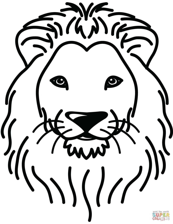 lion head coloring page lion coloring pages set 1 treehutin head coloring page lion
