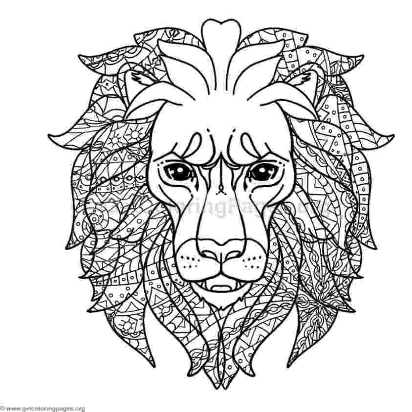 lion head coloring page lion head 2 lions adult coloring pages page head lion coloring