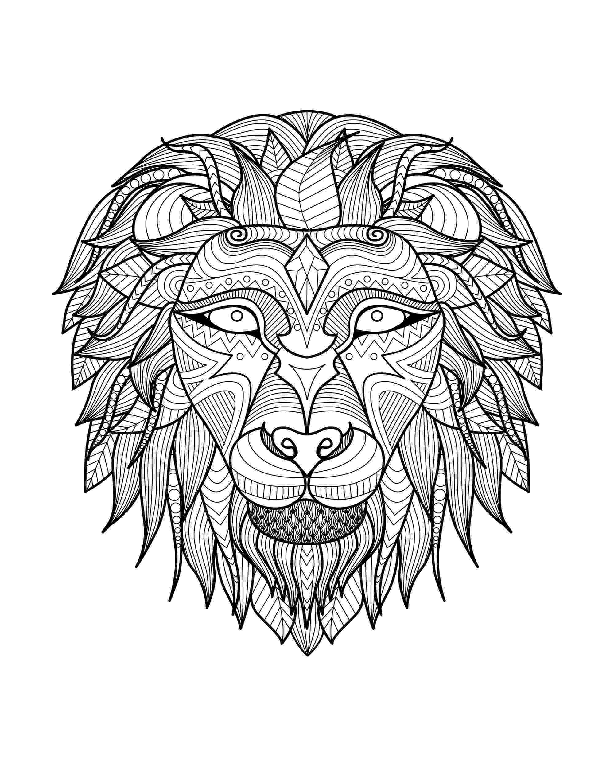 lion head coloring page lion head coloring page arts totallypic adult coloring lion head page