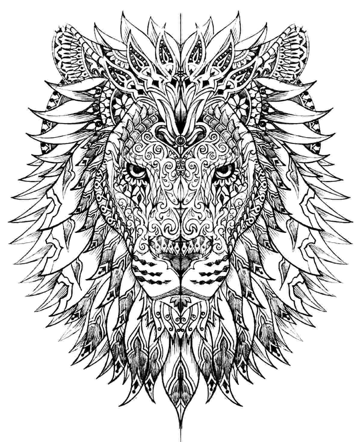 lion head coloring page lion head lions adult coloring pages page lion coloring head