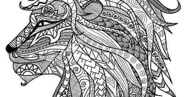 lion head coloring page lion head with big mane lions adult coloring pages lion page coloring head