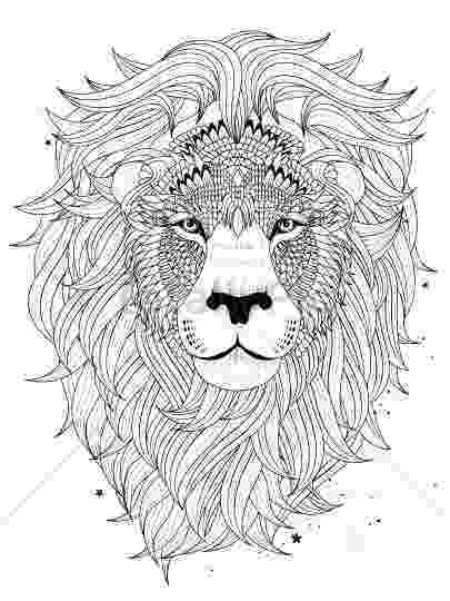 lion head coloring page lion39s head printable relaxing coloring page for adults head page coloring lion
