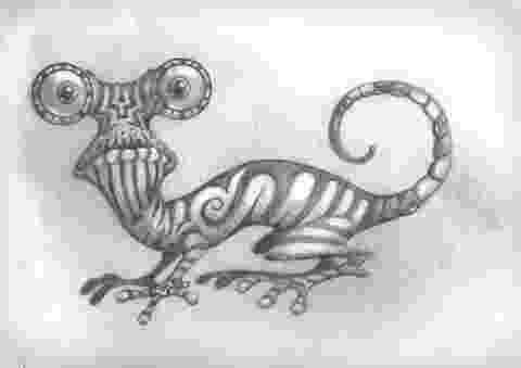lizard sketch dragon lizard sketch cartoon lizard sketch