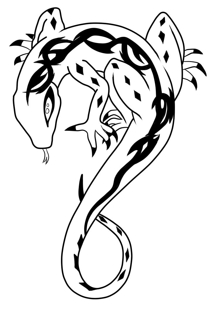 lizard sketch how to draw a basilisk lizard drawingforallnet sketch lizard