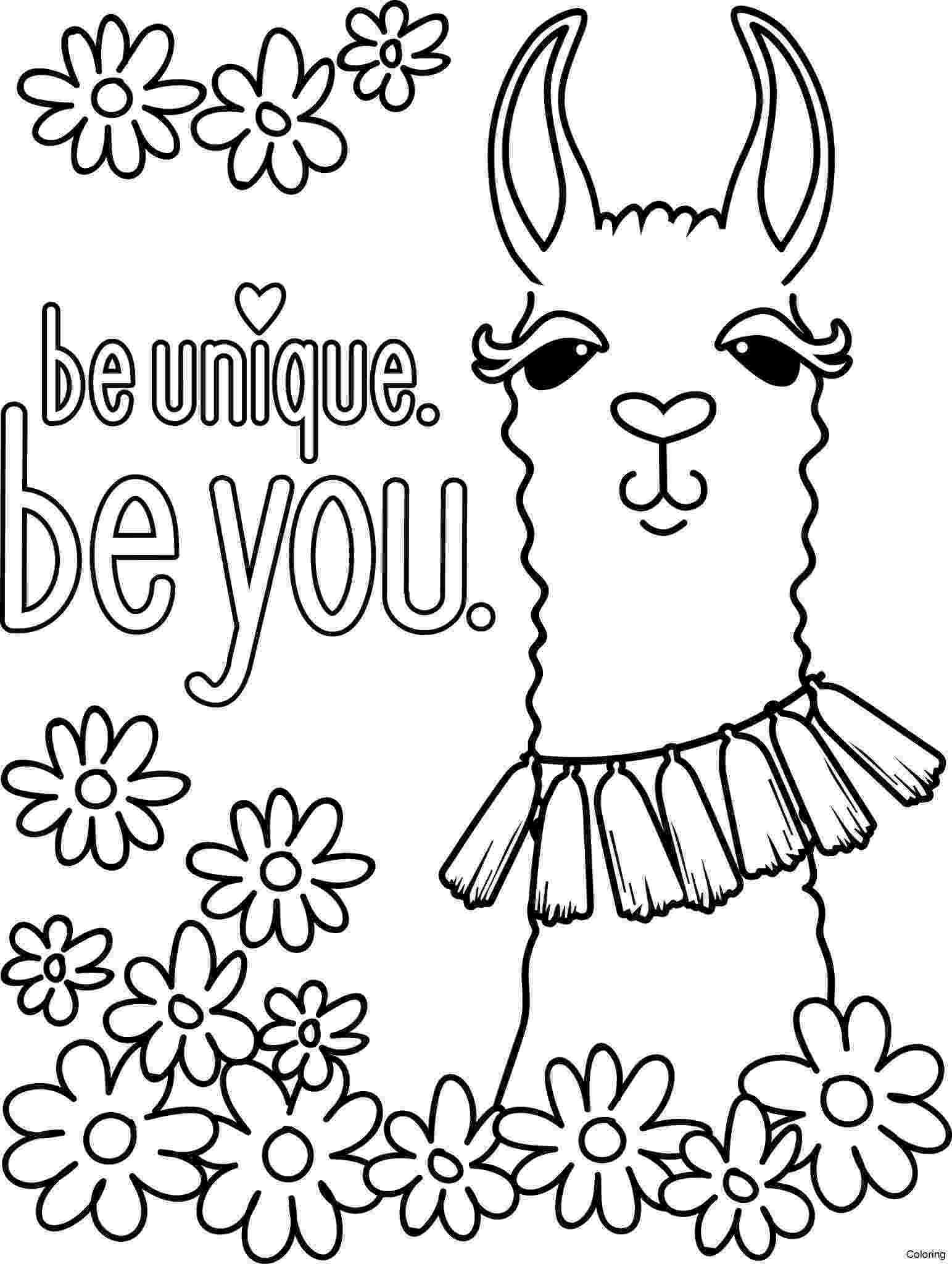 llama coloring page animal coloring pages for kids llama page coloring llama