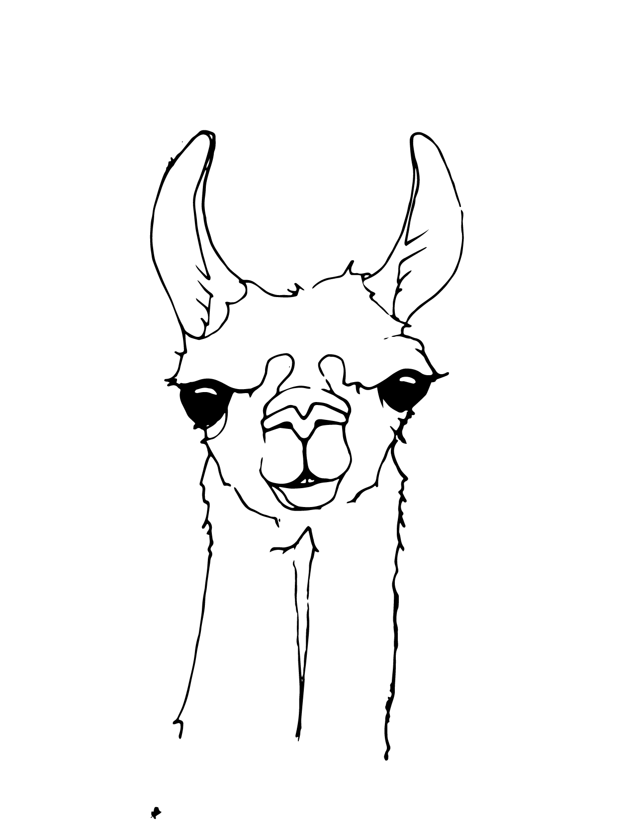 llama coloring page kawaii coloring pages free download on clipartmag llama page coloring