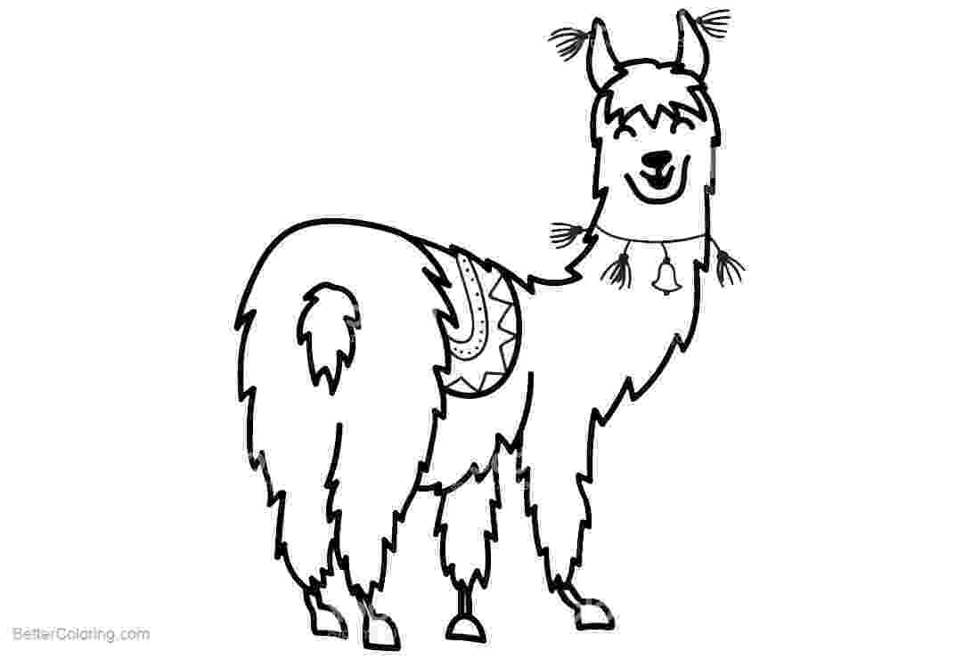 llama coloring page no prob llama printablecoloring page by falalalearning tpt page coloring llama