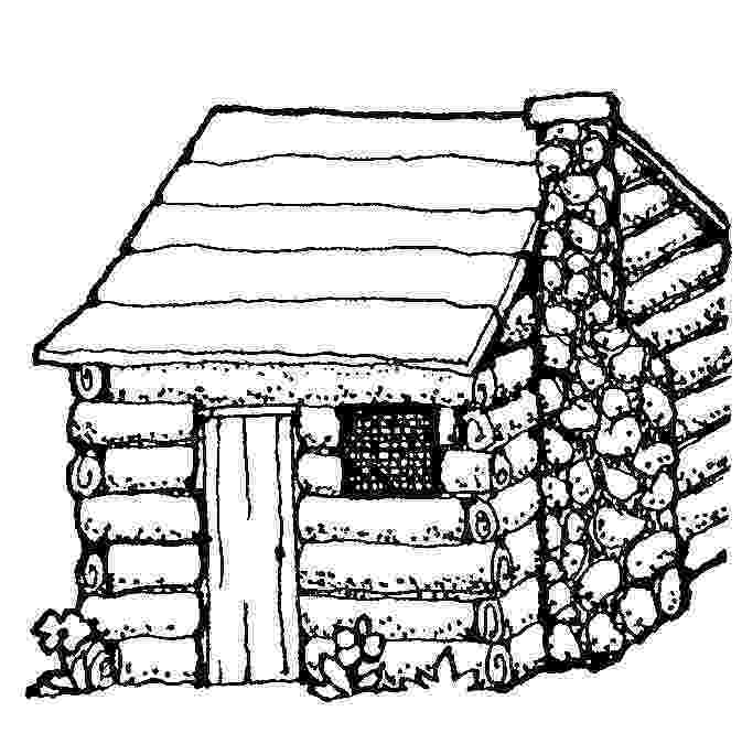 log cabin coloring page architecture coloring pages 2 page log cabin coloring