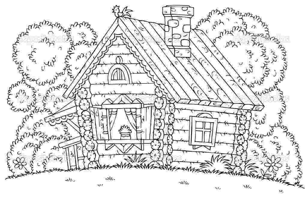 log cabin coloring page coloring pages log cabin for van allsburg week 18 cc coloring cabin page log
