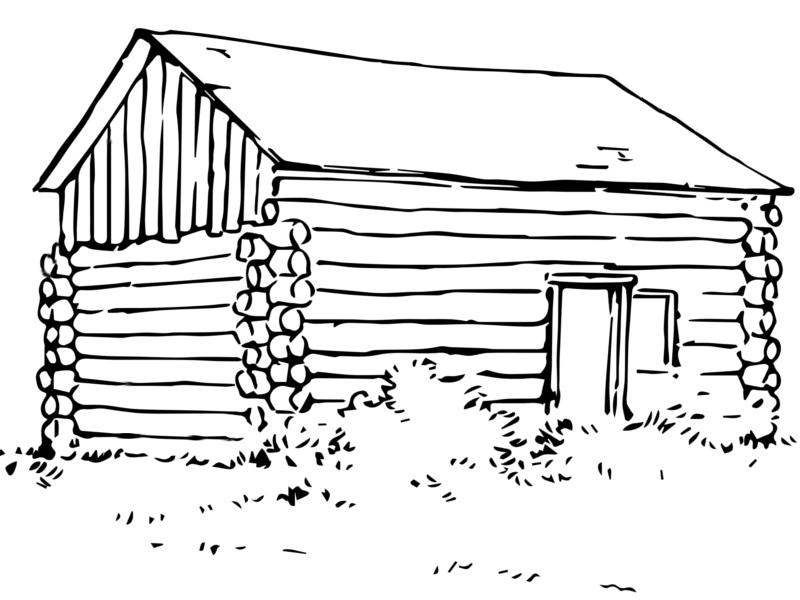 log cabin coloring page log cabin coloring pages coloring home cabin log coloring page