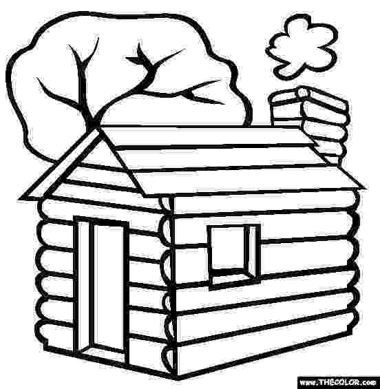 log cabin coloring page log cabin coloring pages coloring home coloring cabin log page