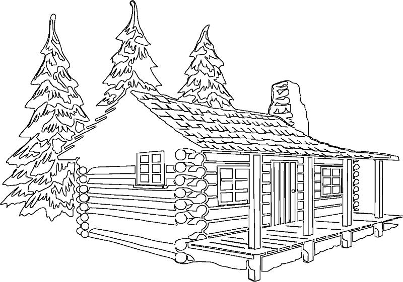 log cabin coloring page log cabin coloring pages coloring home log coloring page cabin