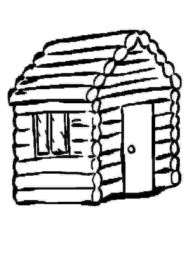 log cabin coloring page log cabin coloring pages coloring home page coloring log cabin