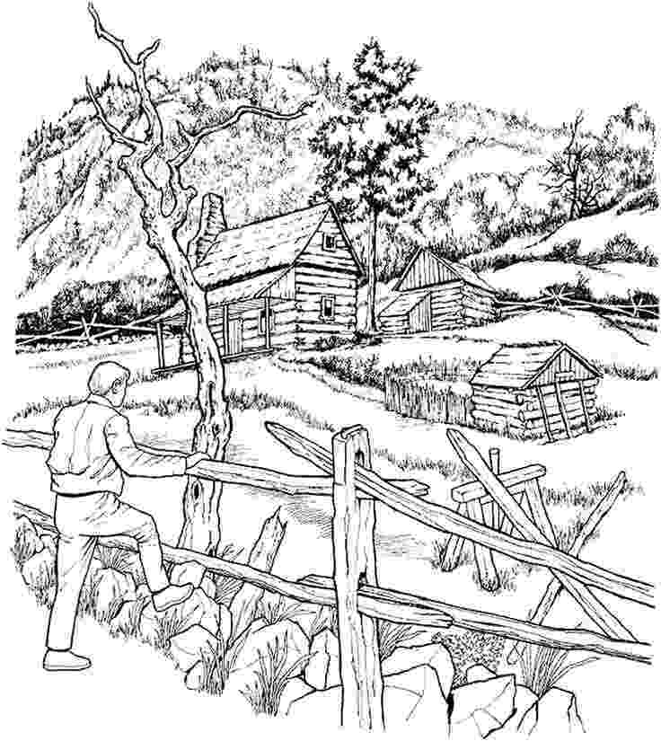 log cabin coloring page log cabin woods coloring pages log page cabin coloring