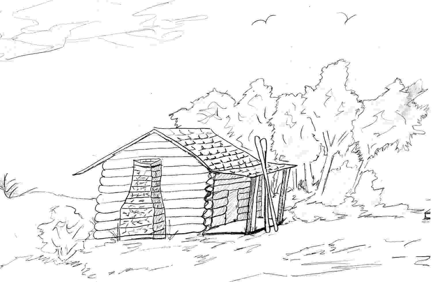 log coloring pages cabin in the woods drawing at getdrawingscom free for pages log coloring