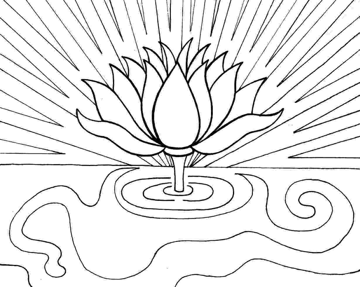 lotus flower coloring pages multipurpose the beautiful lotus flower colouring pages flower pages coloring lotus