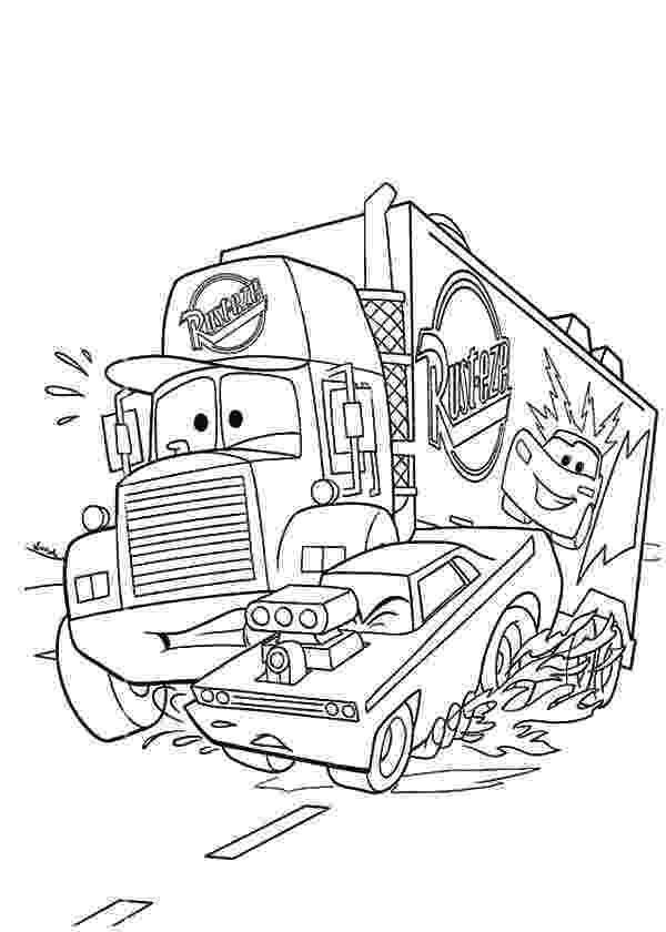 mack truck coloring pages car transporter police truck coloring pages best place mack pages truck coloring