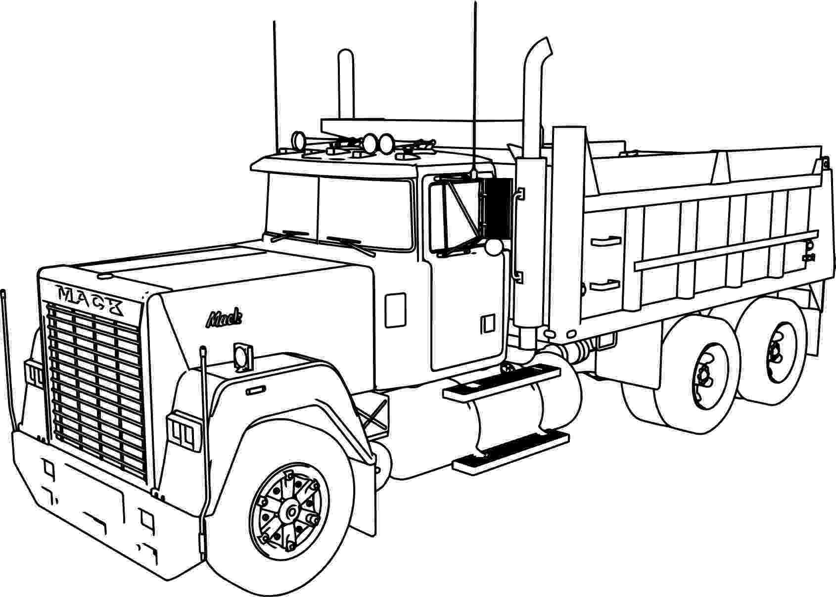 mack truck coloring pages mack super liner truck coloring pages hellokidscom truck coloring pages mack