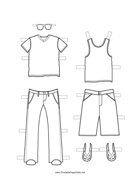 male paper doll cutouts these two free printable boy paper doll outfits are great paper male cutouts doll