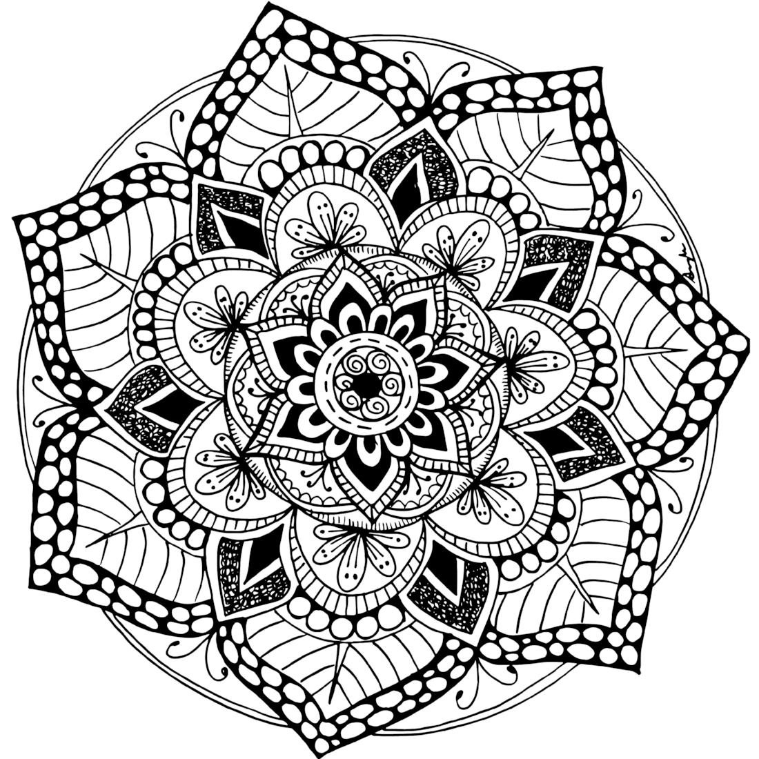 mandala free mandala vector free download flowers adults coloring free mandala