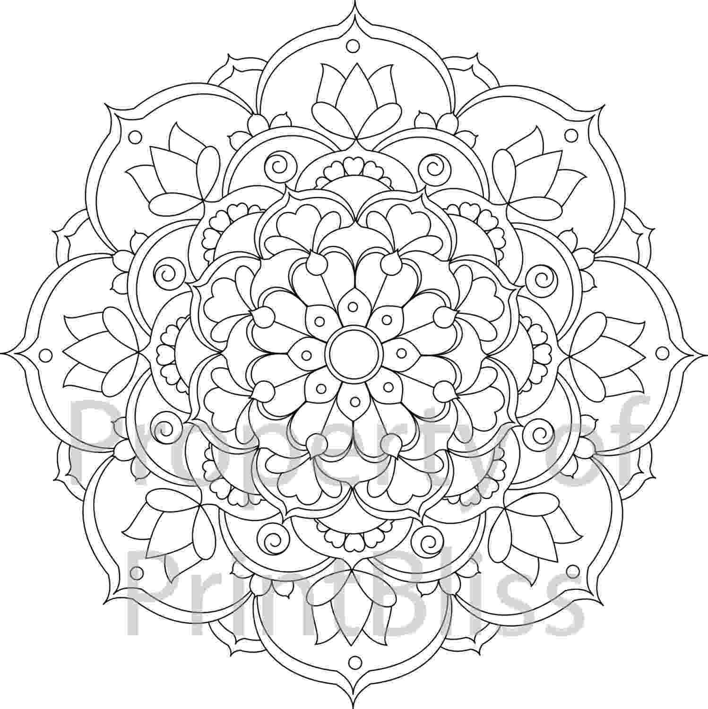 mandala print 24 flower mandala printable coloring page print mandala