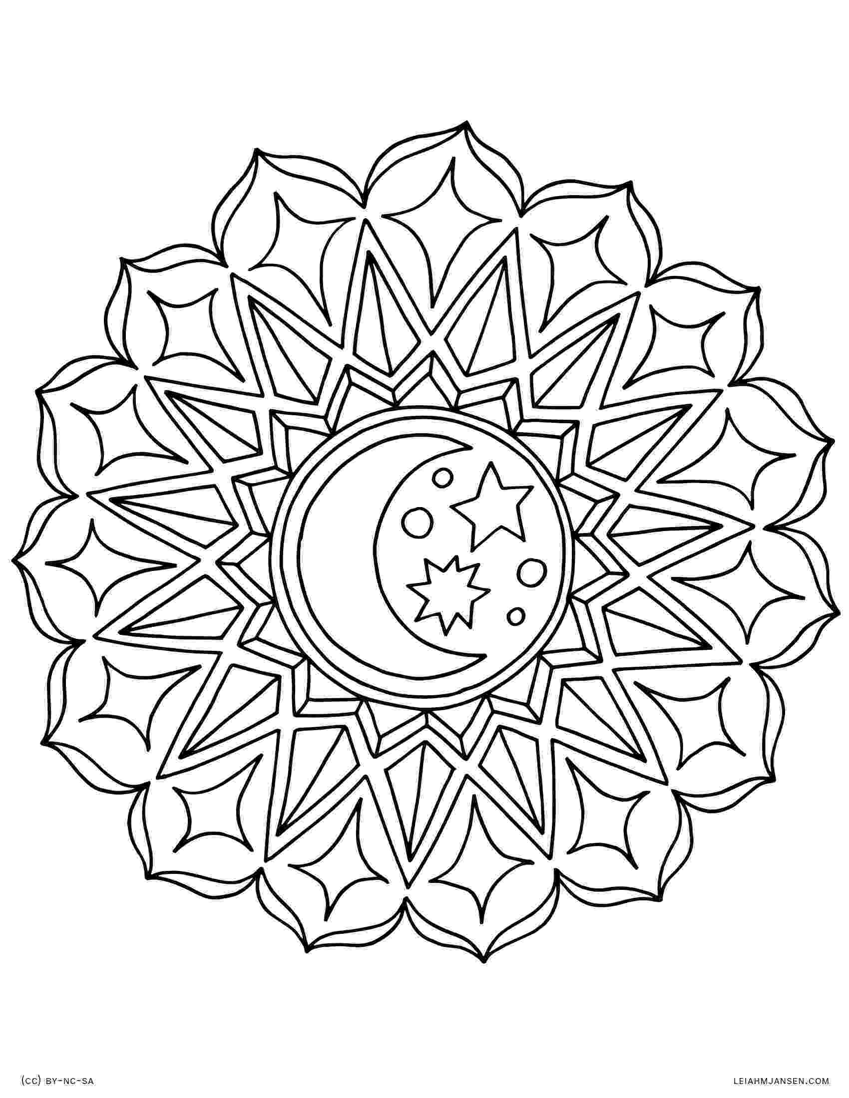mandala print coloring pages print mandala 1 1