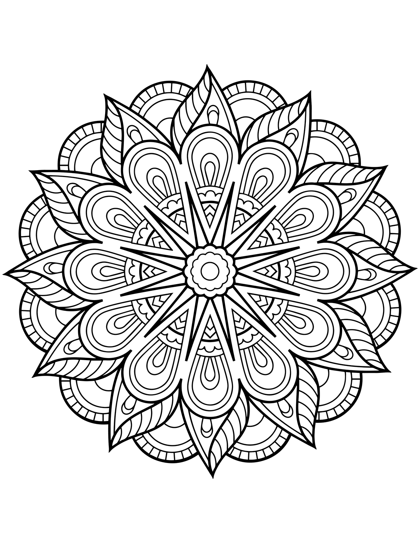 mandala print flower mandala coloring pages best coloring pages for kids mandala print