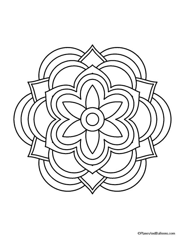 mandala to color diamond pattern mandala coloring pages hellokidscom color to mandala
