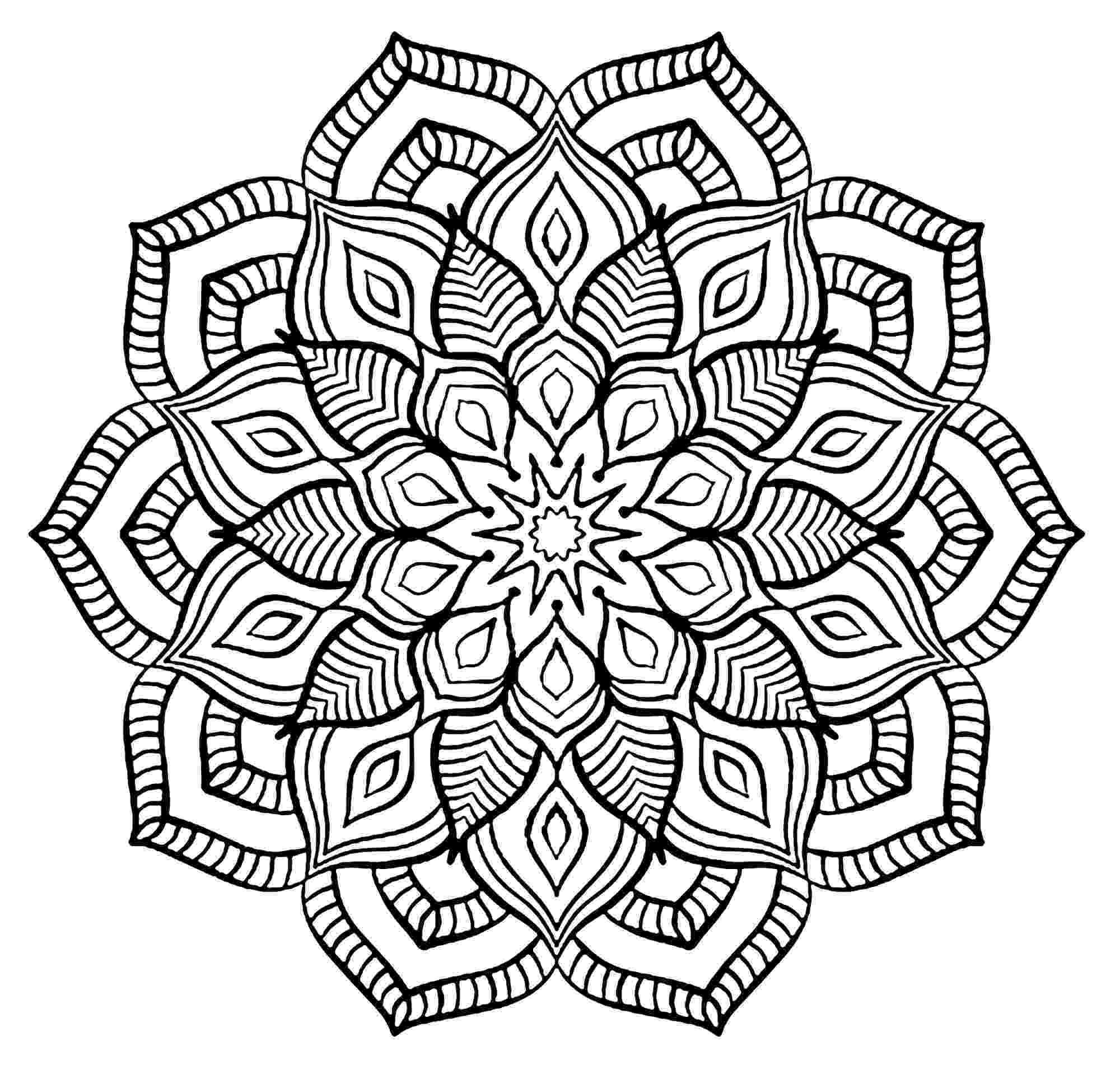 mandala to color free printable geometric coloring pages for kids color mandala to