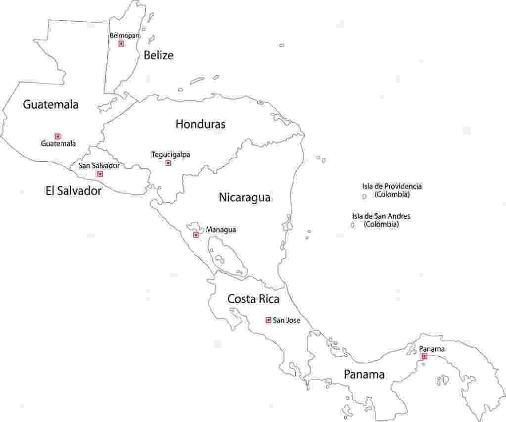 mapa de centroamerica contour central america map stock vector volina 32468445 mapa de centroamerica