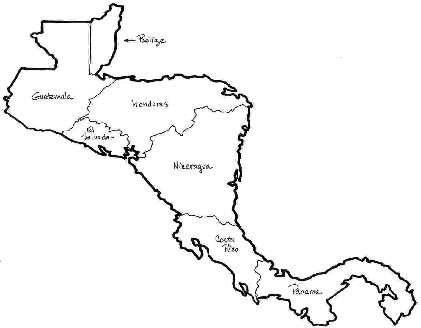 mapa de centroamerica mapa de centroamerica para colorear mapa centroamerica de