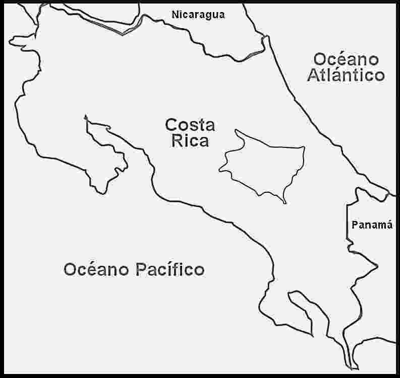 mapa de centroamerica mapa de costa rica para pintar mapa de centroamerica