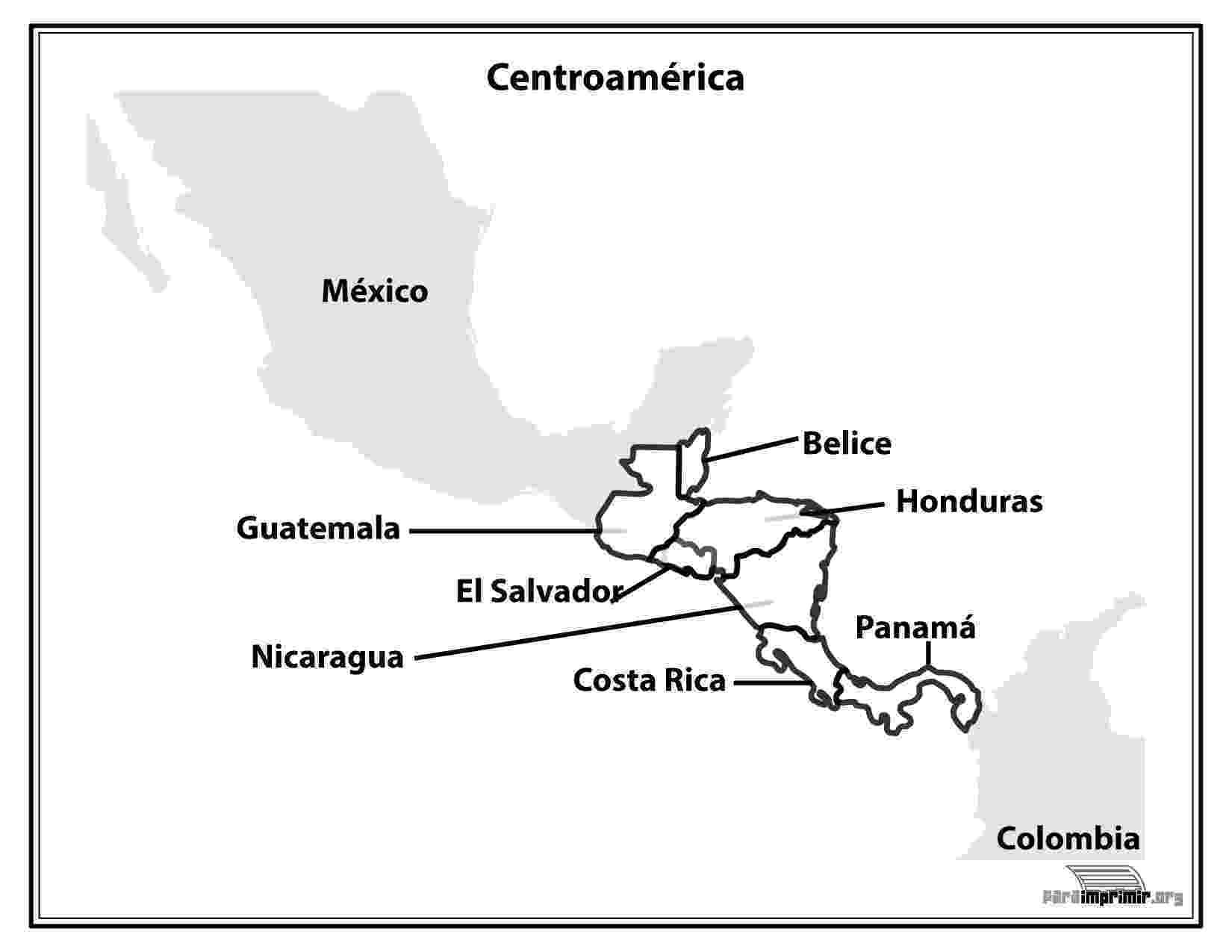 mapa de centroamerica mapa de oceania con division politica de mapa centroamerica