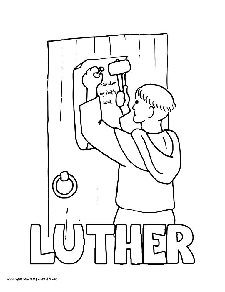 martin luther coloring page martin luther german protestant reformer coloring pages luther page martin coloring