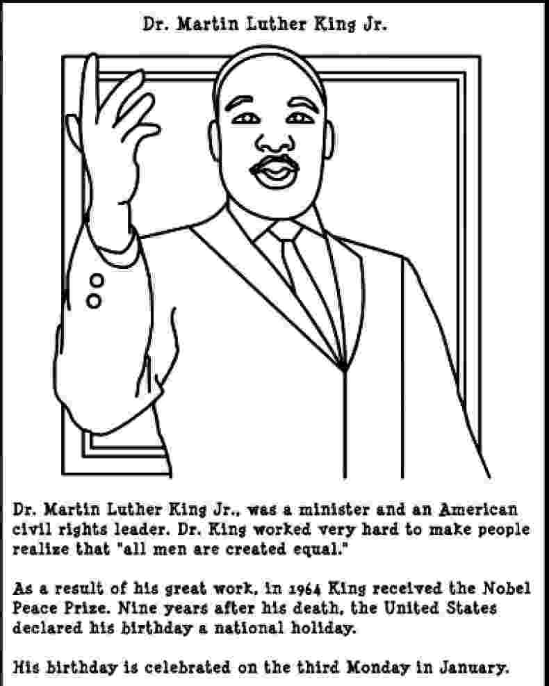 martin luther king coloring sheets free free printable martin luther king jr day mlk day martin free coloring king sheets luther