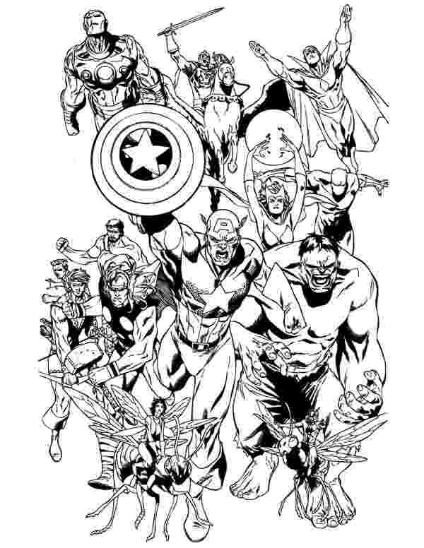 marvel coloring page marvel superhero coloring pages getcoloringpagescom marvel page coloring