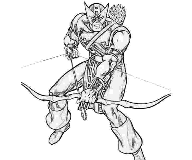 marvel hawkeye coloring pages hawkeye drawing at getdrawings free download coloring marvel pages hawkeye