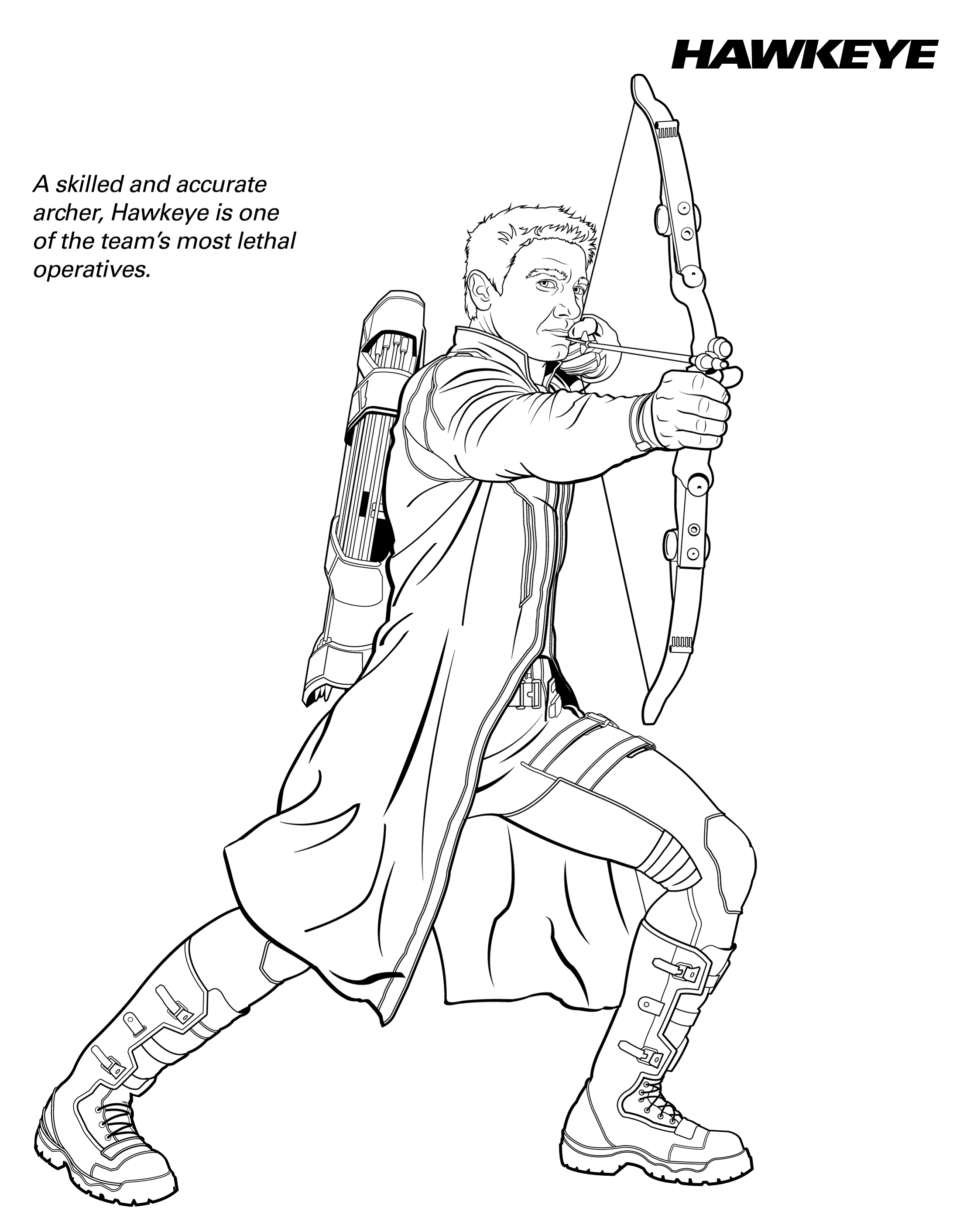 marvel hawkeye coloring pages hawkeye drawing at getdrawings free download coloring pages marvel hawkeye