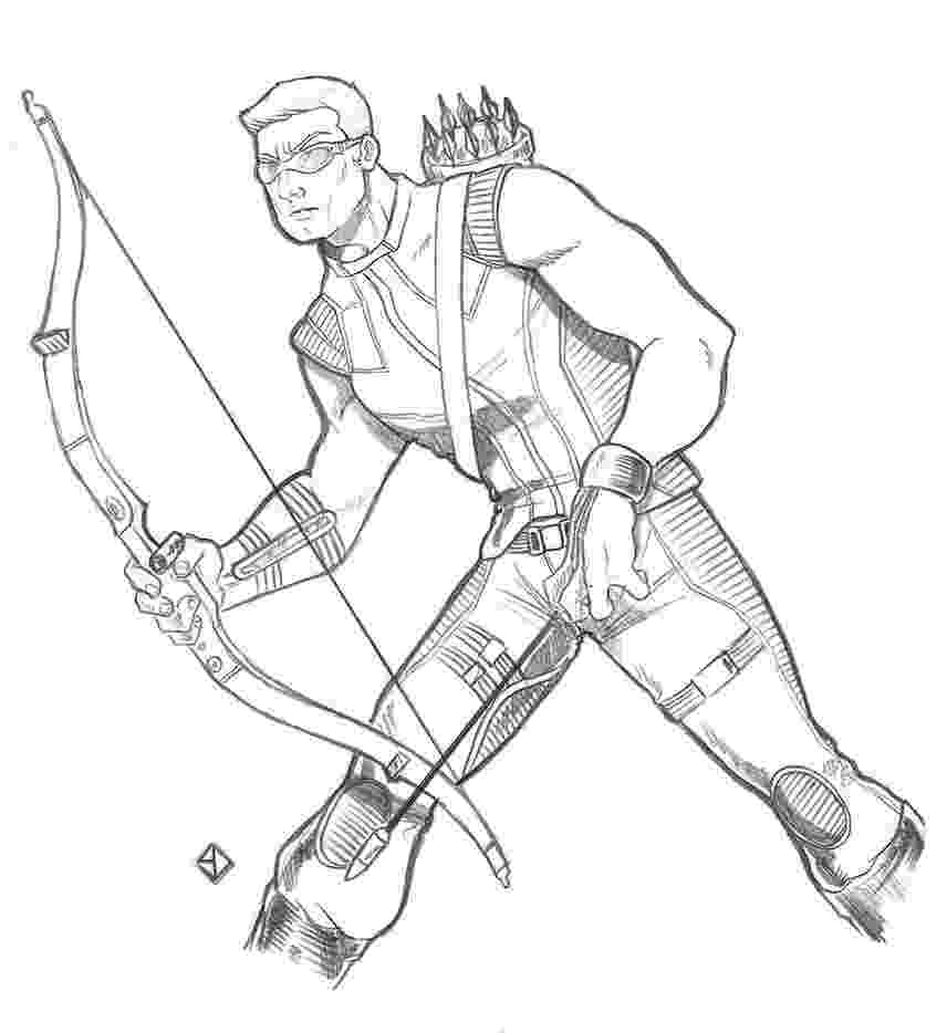 marvel hawkeye coloring pages hawkeye drawing at getdrawings free download hawkeye pages marvel coloring