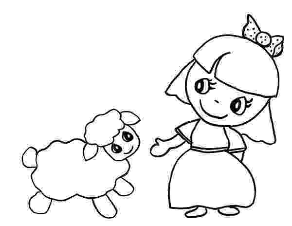 mary had a little lamb coloring page cartoon of mary had a little lamb coloring pages color luna lamb a had coloring little mary page