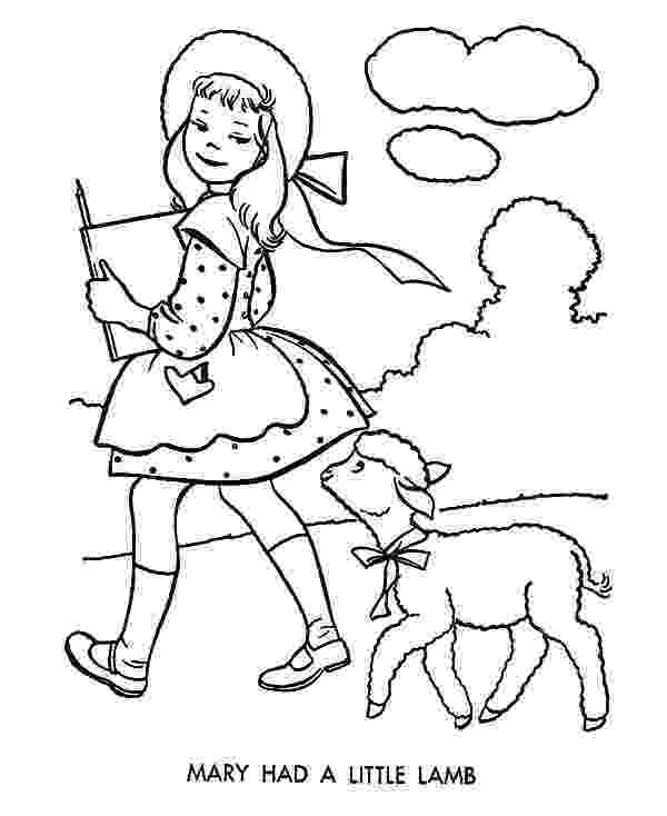 mary had a little lamb coloring page chibi picture of mary had a little lamb coloring pages coloring lamb had a little mary page