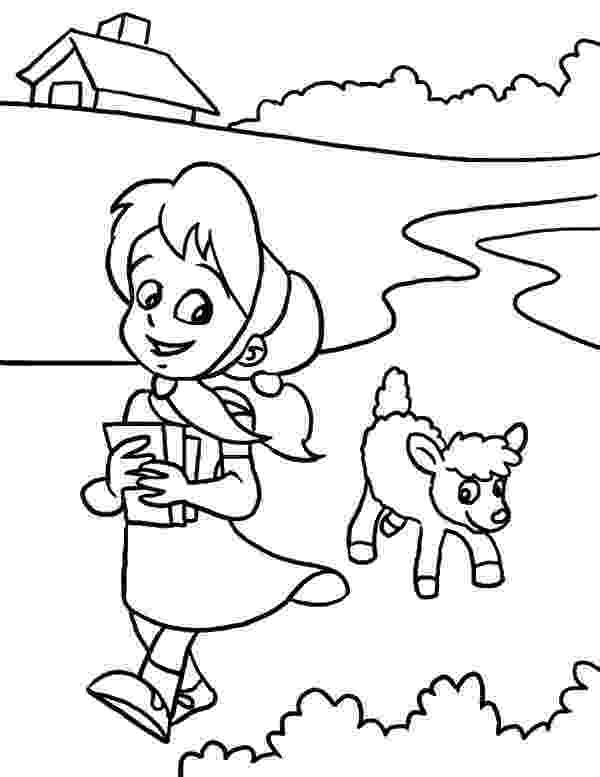 mary had a little lamb coloring page drawing mary had a little lamb coloring pages color luna a had coloring mary lamb page little