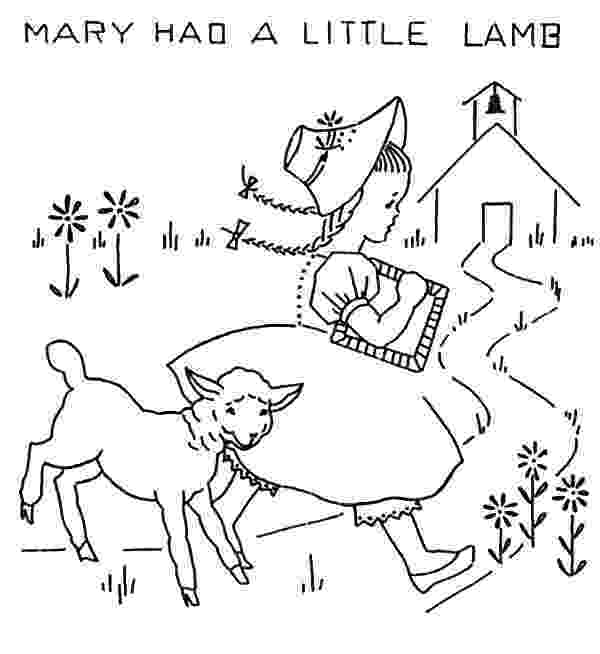 mary had a little lamb coloring page funny picture of mary had a little lamb coloring pages page mary a little coloring lamb had